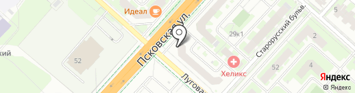 Miele на карте Великого Новгорода