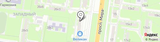 Пух и Перья на карте Великого Новгорода