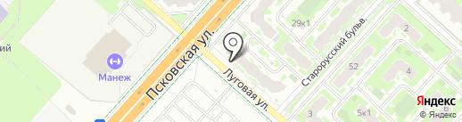Лером на карте Великого Новгорода