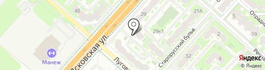 Bordo на карте Великого Новгорода