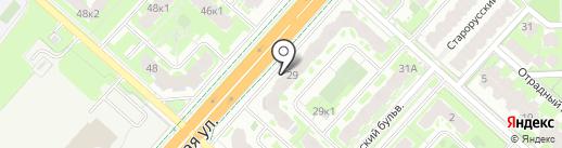 Bravo на карте Великого Новгорода