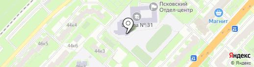 Средняя общеобразовательная школа №31 на карте Великого Новгорода