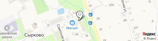 Продовольственный магазин на Центральной на карте Сырково