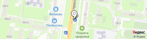 Киоск по продаже цветов на карте Великого Новгорода