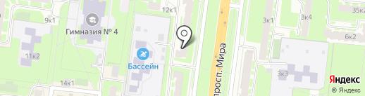 Ева на карте Великого Новгорода
