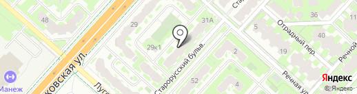 Искорка на карте Великого Новгорода