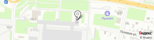Автоблеск на карте Великого Новгорода
