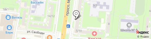 Магазин трикотажных изделий на карте Великого Новгорода