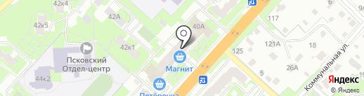Магнит на карте Великого Новгорода