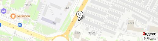 Шиномонтажная мастерская на проспекте Александра Корсунова на карте Великого Новгорода