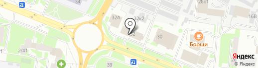 Тенториум на карте Великого Новгорода
