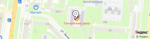 Автошкола Алгоритм на карте Великого Новгорода