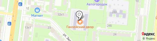 Ганзейский двор на карте Великого Новгорода