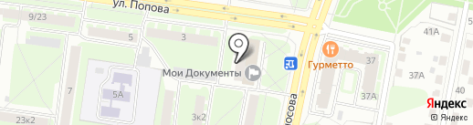 Мои документы на карте Великого Новгорода
