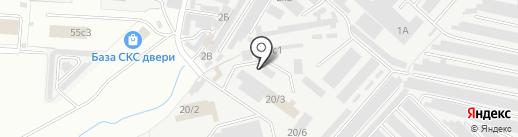 Автомойка №1 на карте Великого Новгорода