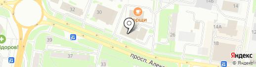 Квадратура на карте Великого Новгорода