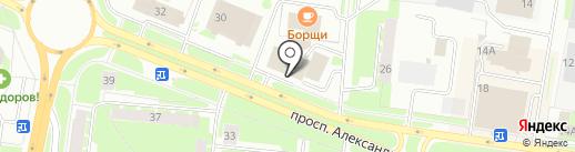 Новый стандарт 32 на карте Великого Новгорода