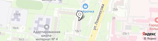 Ломоносовъ на карте Великого Новгорода