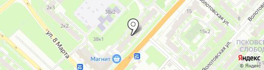 Почтовое отделение №9 на карте Великого Новгорода