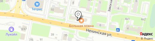 Сфинкс на карте Великого Новгорода