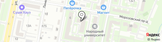 Согласие на карте Великого Новгорода