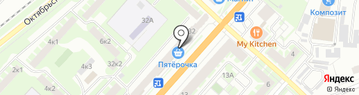 Анод на карте Великого Новгорода