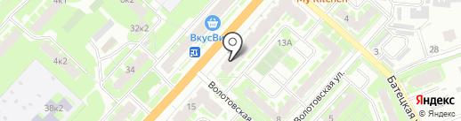 Кредо на карте Великого Новгорода