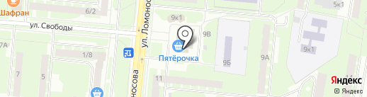 Печати5 на карте Великого Новгорода