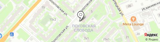 Волхова на карте Великого Новгорода