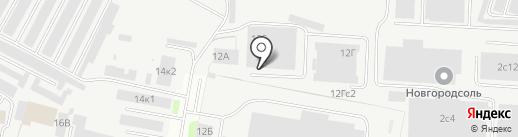 ГЛАВСНАБ на карте Великого Новгорода