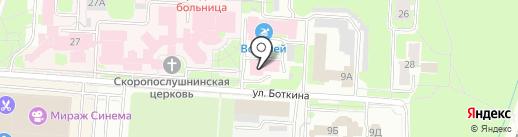 Центральная городская клиническая больница на карте Великого Новгорода