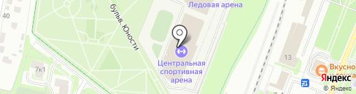 Бассейн на карте Великого Новгорода