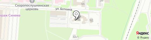 Застава на карте Великого Новгорода