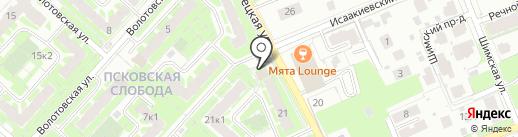Парус на карте Великого Новгорода