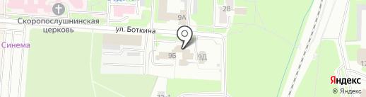 Управление Пенсионного фонда РФ в г. Великом Новгороде и в Новгородском районе на карте Великого Новгорода