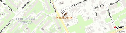 Банкомат, Банк УРАЛСИБ на карте Великого Новгорода