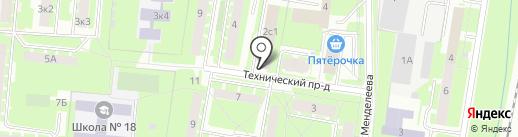 Верный на карте Великого Новгорода