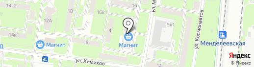 Секонд-хенд на ул. Менделеева на карте Великого Новгорода