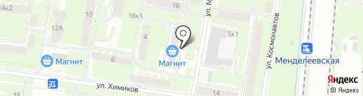 Киоск по продаже печатной продукции на карте Великого Новгорода
