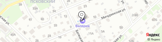 Валерия на карте Великого Новгорода