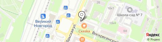 Одежда для двоих на карте Великого Новгорода