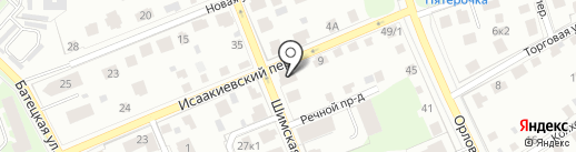 Эврика на карте Великого Новгорода