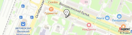 Вариант на карте Великого Новгорода
