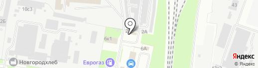 Вокруг Колеса на карте Великого Новгорода