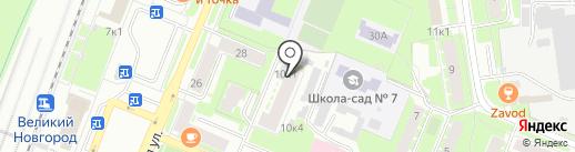 Новый Акрополь на карте Великого Новгорода