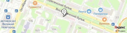 Банк ВТБ 24 на карте Великого Новгорода