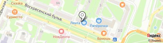 МегаФон на карте Великого Новгорода