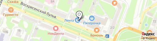 Магазин мебели на карте Великого Новгорода