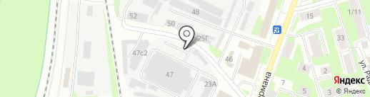 Авторынок на карте Великого Новгорода