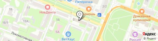 Управляющая компания №14 на карте Великого Новгорода